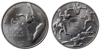 2000 Forint Olimpia  2016 BU