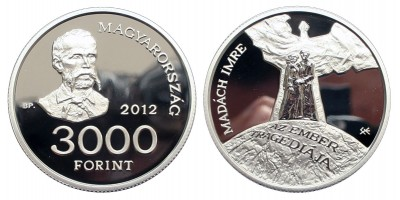 3000 Forint Madách Imre 2012 PP