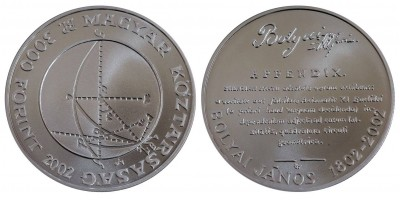 3000 Forint Bolyai János 2002 BU