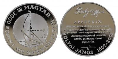 3000 Forint Bolyai János 2002 PP