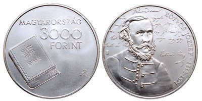 3000 forint Eötvös József 2013 BU