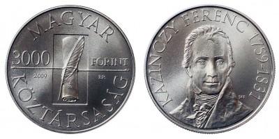 3000 Forint Kazinczy Ferenc 2009 BU