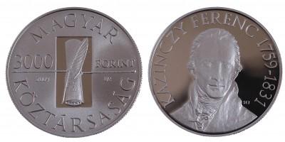 3000 Forint Kazinczy Ferenc 2009 PP