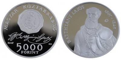 5000 forint Battyhány Lajos 2007 PP