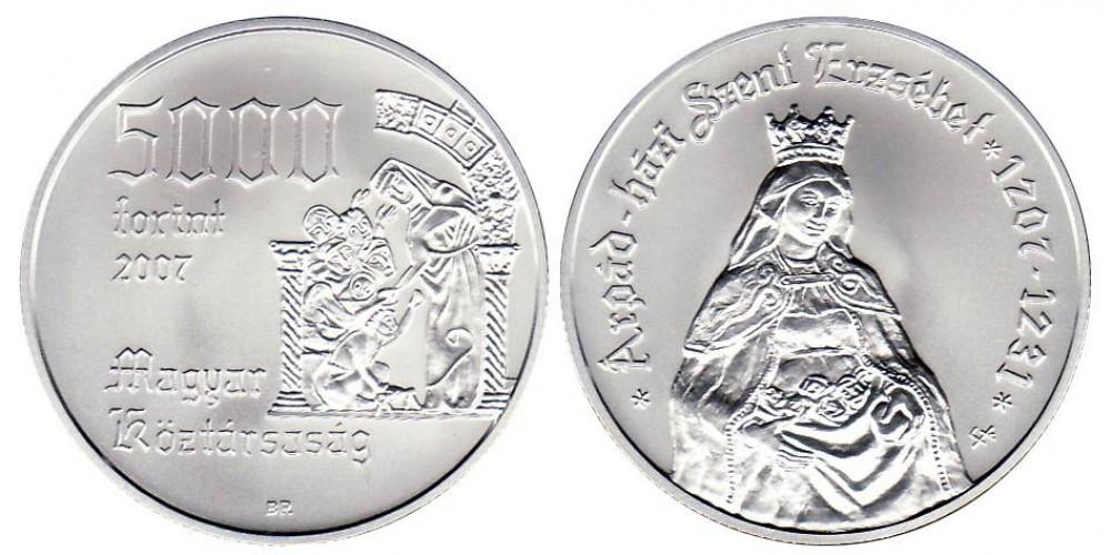 5000 Forint Szent Erzsébet 2007 BU