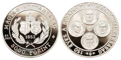 5000 forint Filharmónia 2003 PP