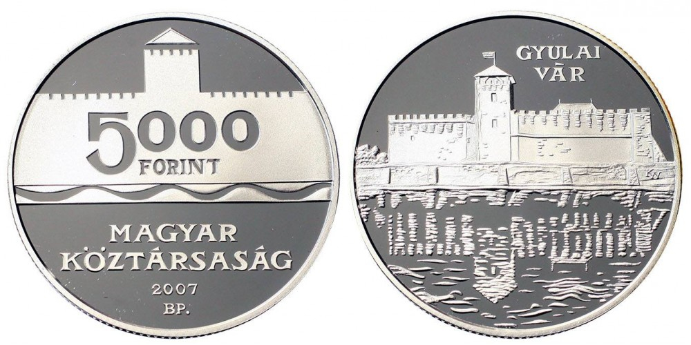 5000 forint a Gyulai vár 2007 PP
