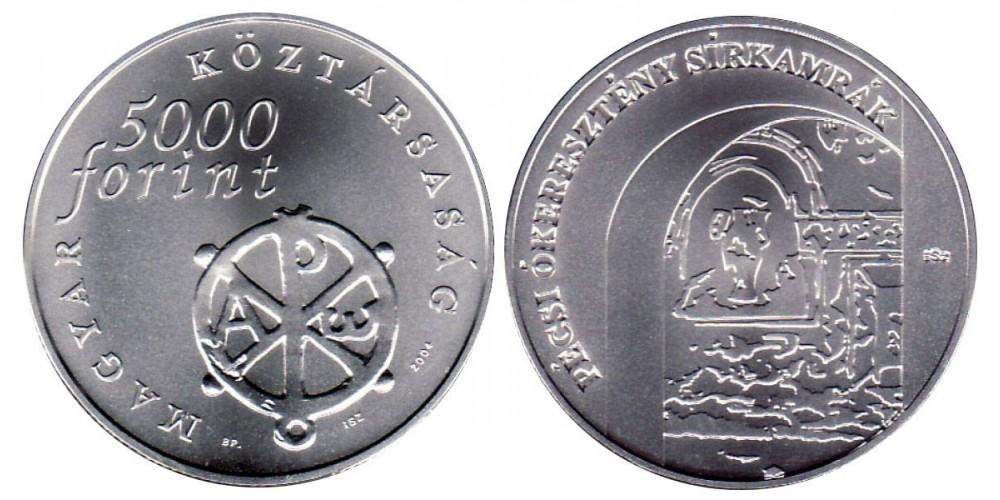 5000 Forint Pécsi ókeresztény sírkamrák 2004 BU