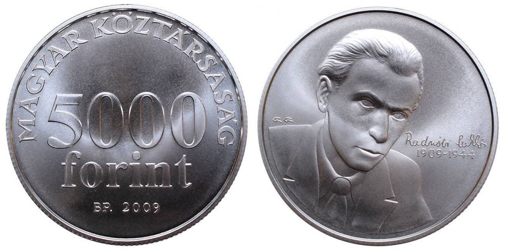 5000 forint Radnóti Miklós  2009 BU