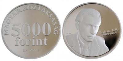 5000 forint Radnóti Miklós  2009 PP