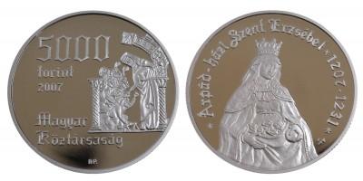 5000 Forint Szent Erzsébet 2007 PP