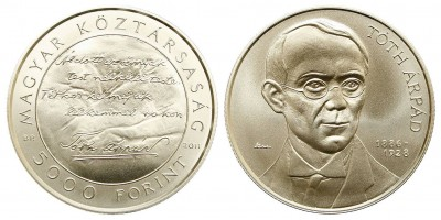 5000 forint Tóth Árpád 2011BU