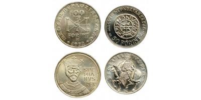 Saint Stephen 50-100 forint 1972