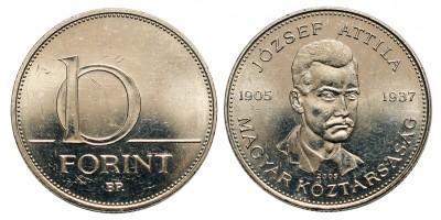 10 forint 2005 József Attila