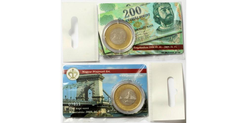 200 forint 2009 első napi veret