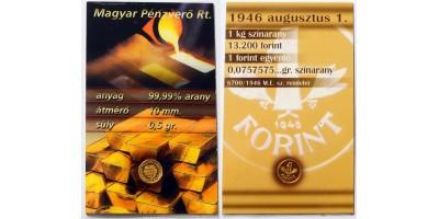 Mini gold forint 1946