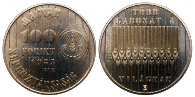 100 forint FAO II. 1983 Probaveret