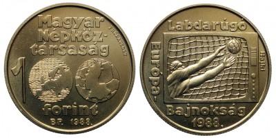100 forint Foci EB 1988 próbaveret