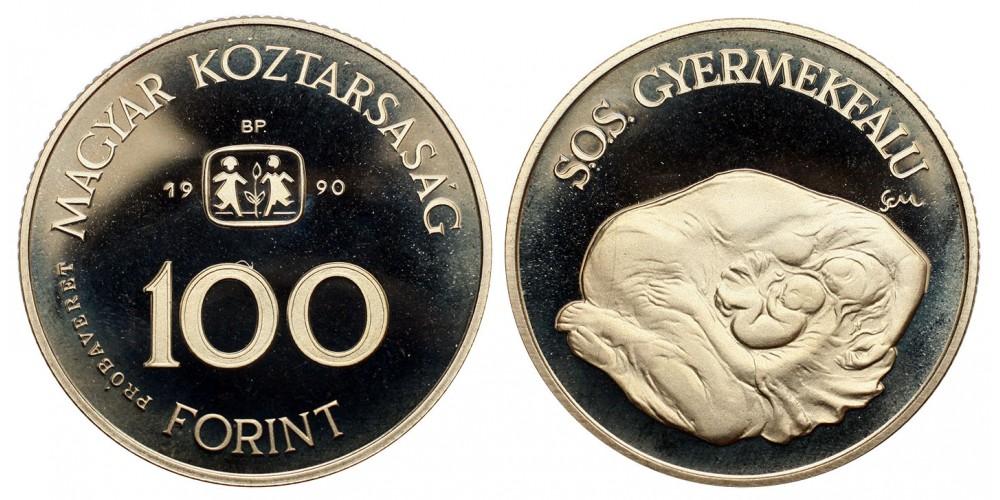 100 forint SOS gyermekfalu  1990 Probaveret