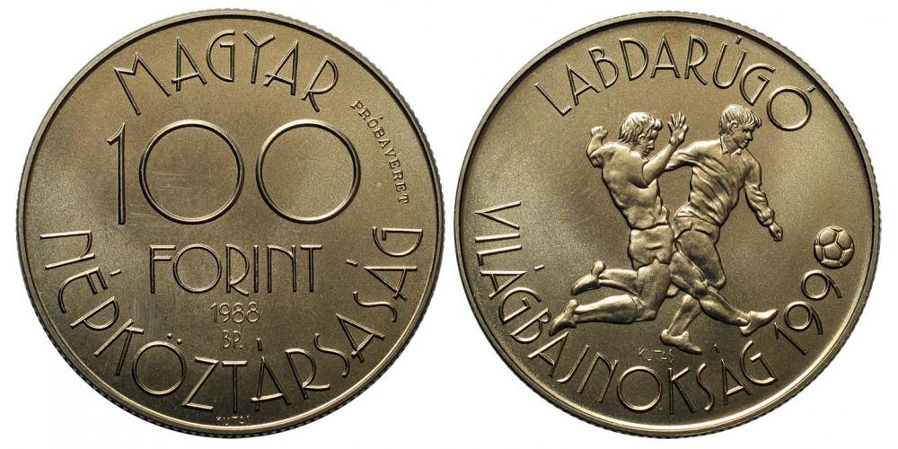 100 forint Foci Vb 1988 próbaveret