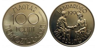 100 forint Foci Vb 1989 próbaveret