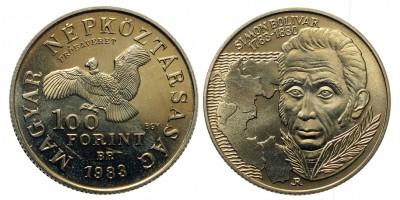 100 forint Simon Bolivar 1983 Próbaveret