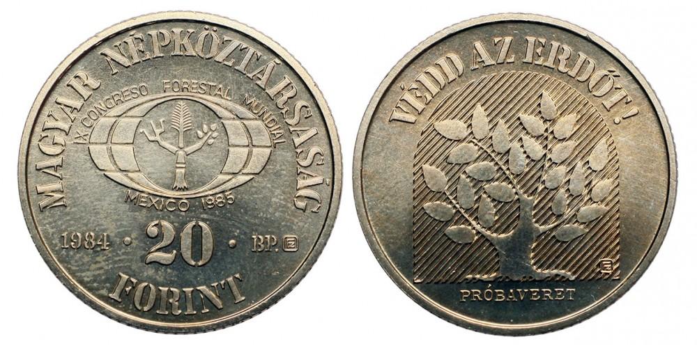 20 forint FAO 1984 próbaveret