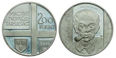 200 forint Festő sor 1976 PP próbaveret