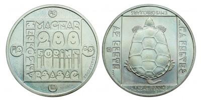 200 forint Természetvédelem sor 1985 BU próbaveret sor
