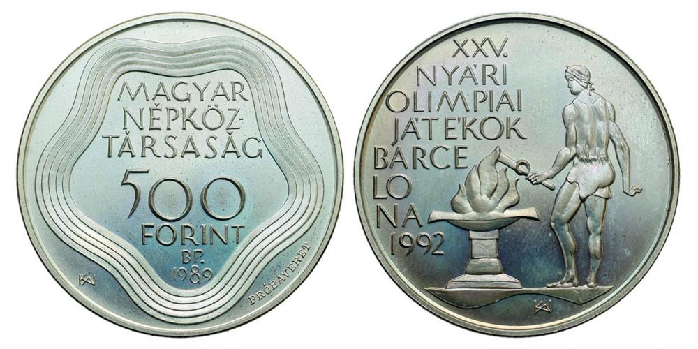 500 forint Olimpia  1989 BU próbaveret