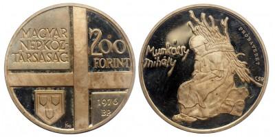 200 forint Festő sor 1976-77 4db próbaveret