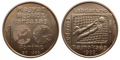 100 forint Labdarúgó EB 1988 próbaveret
