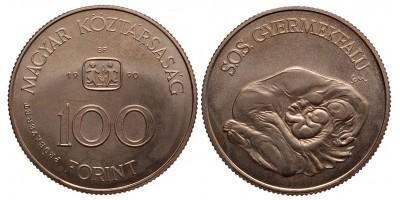 100 forint 1990 SOS Gyermekfalu