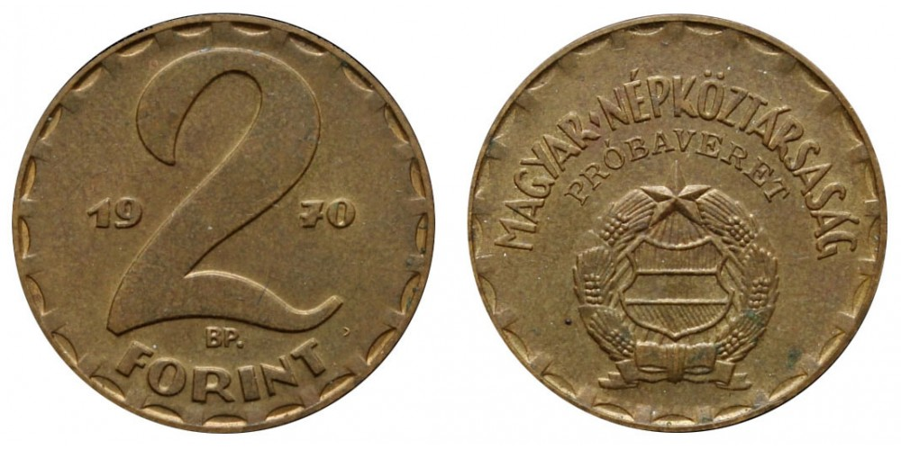2 Forint 1970 Próbaveret