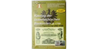 Katalog der östterreichischen Banknoten ab 1759 (2.) bankjegy katalógus