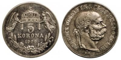 Franz Joseph 5 korona 1906  RR!