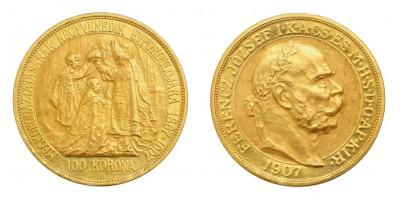 Franz Joseph 100 Korona 1907 KB