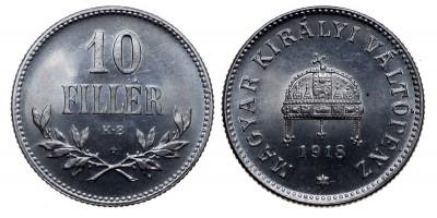 IV.Károly 10 Fillér 1918 Artex