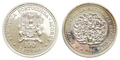 Azori-szigetek 100 escudo 1986