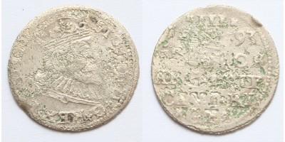 Lengyelország III. Zsigmond 3 garas 1593 Riga