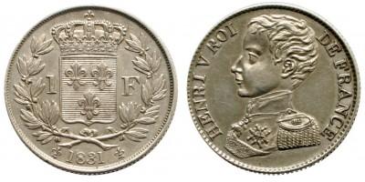 Franciaország 1 Frank 1831