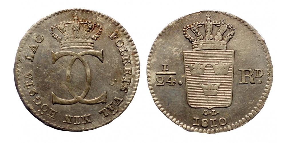 Svédország 1/24 riksdaler 1810