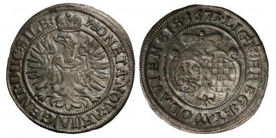 SCHLESIEN-LIEGNITZ-BRIEG, HERZOGTUM  LOUISE VON ANHALT, régens 1673. 6 krajcár 1673