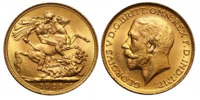 Nagy-Britannia V.György  sovereign 1925
