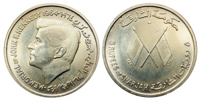 Sharjah 5 rupees 1964 Kennedy