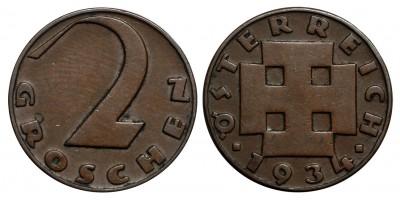 Austria 2 groschen 1934