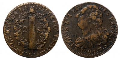 France 2 sols 1792 W