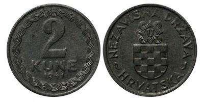 Horvátország 2 kuna 1941