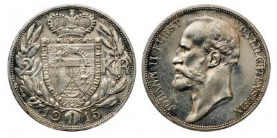 Liechtenstein 2 korona 1915
