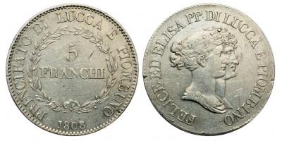 Lucca 5 Franchi 1808